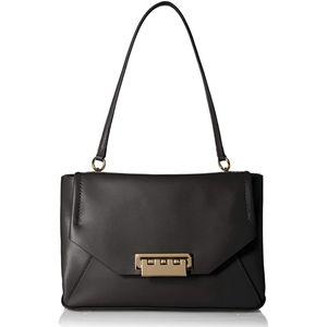 ZAC ZAC POSEN Eartha Envelope Leather Black Bag